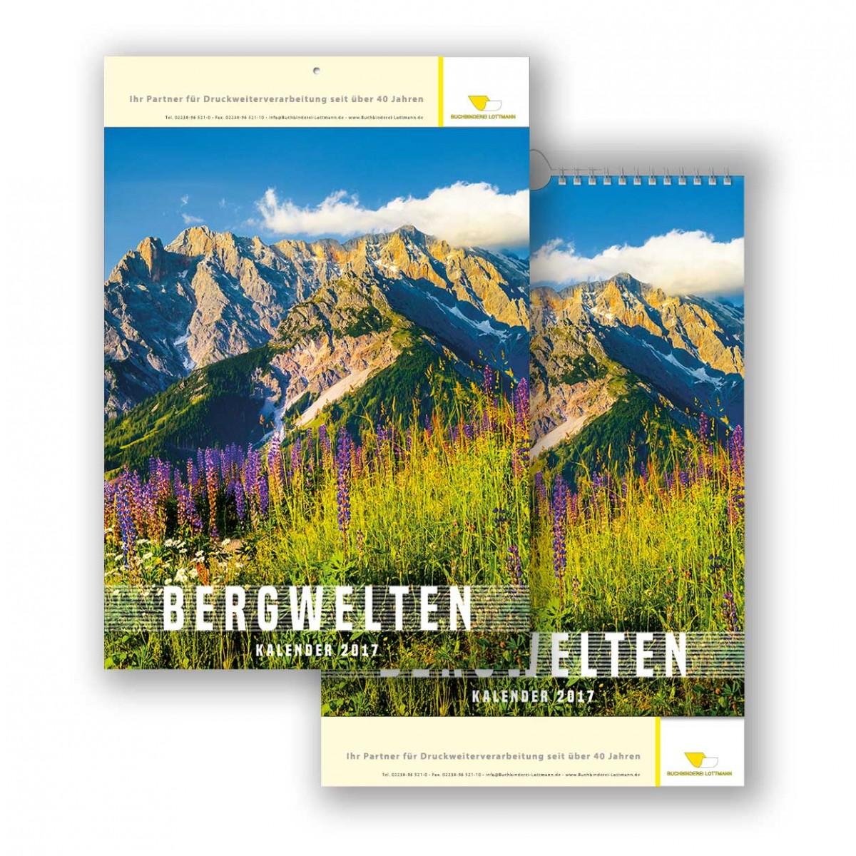 Bildkalender Modell Bergwelten