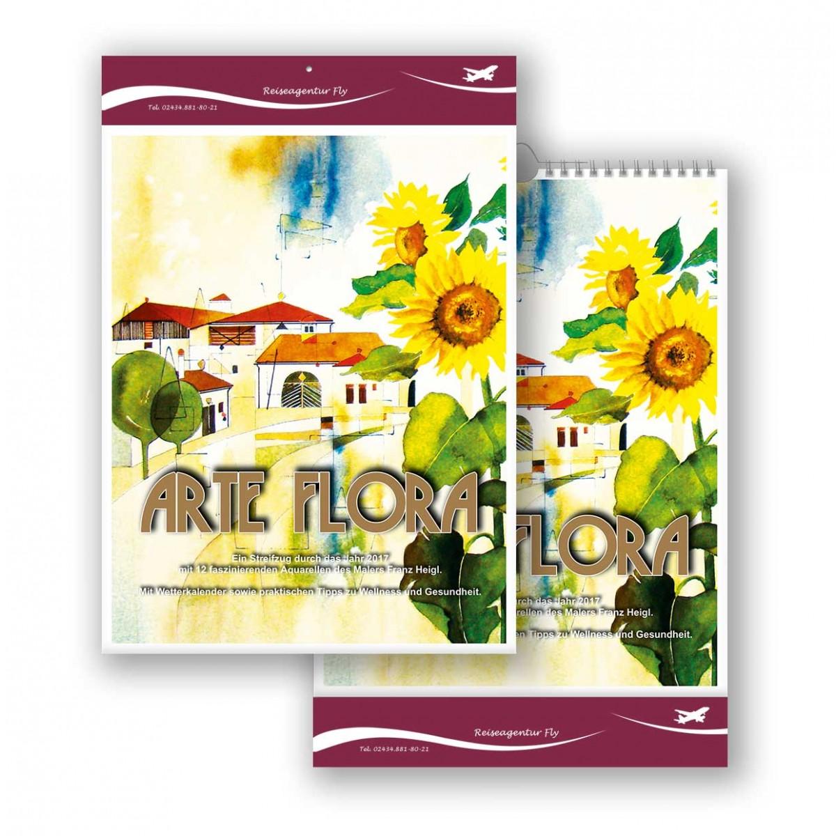 Bildkalender Modell Arte Flora