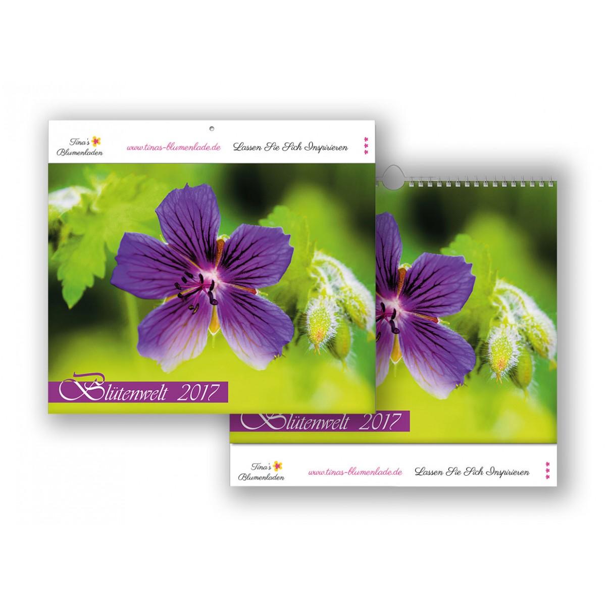 Bildkalender Modell Blütenwelt