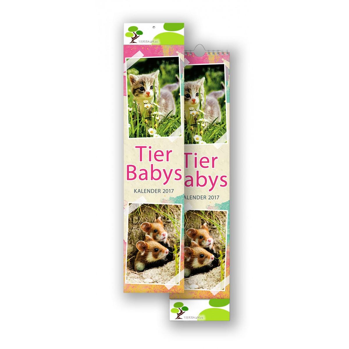 Bildkalender Modell Tierbabys Streifen