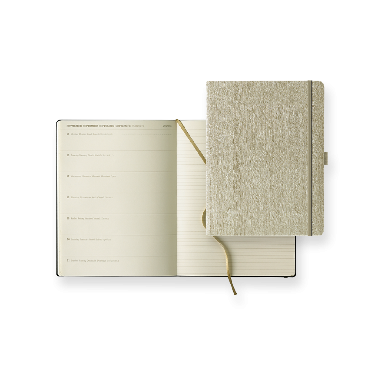Dual-Timer Modell Ivory Diary Week Extra Large