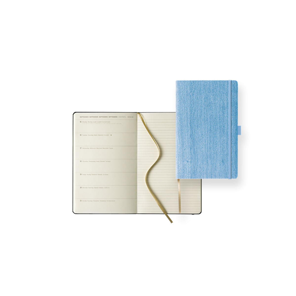Dual-Timer Modell Ivory Diary Week Large