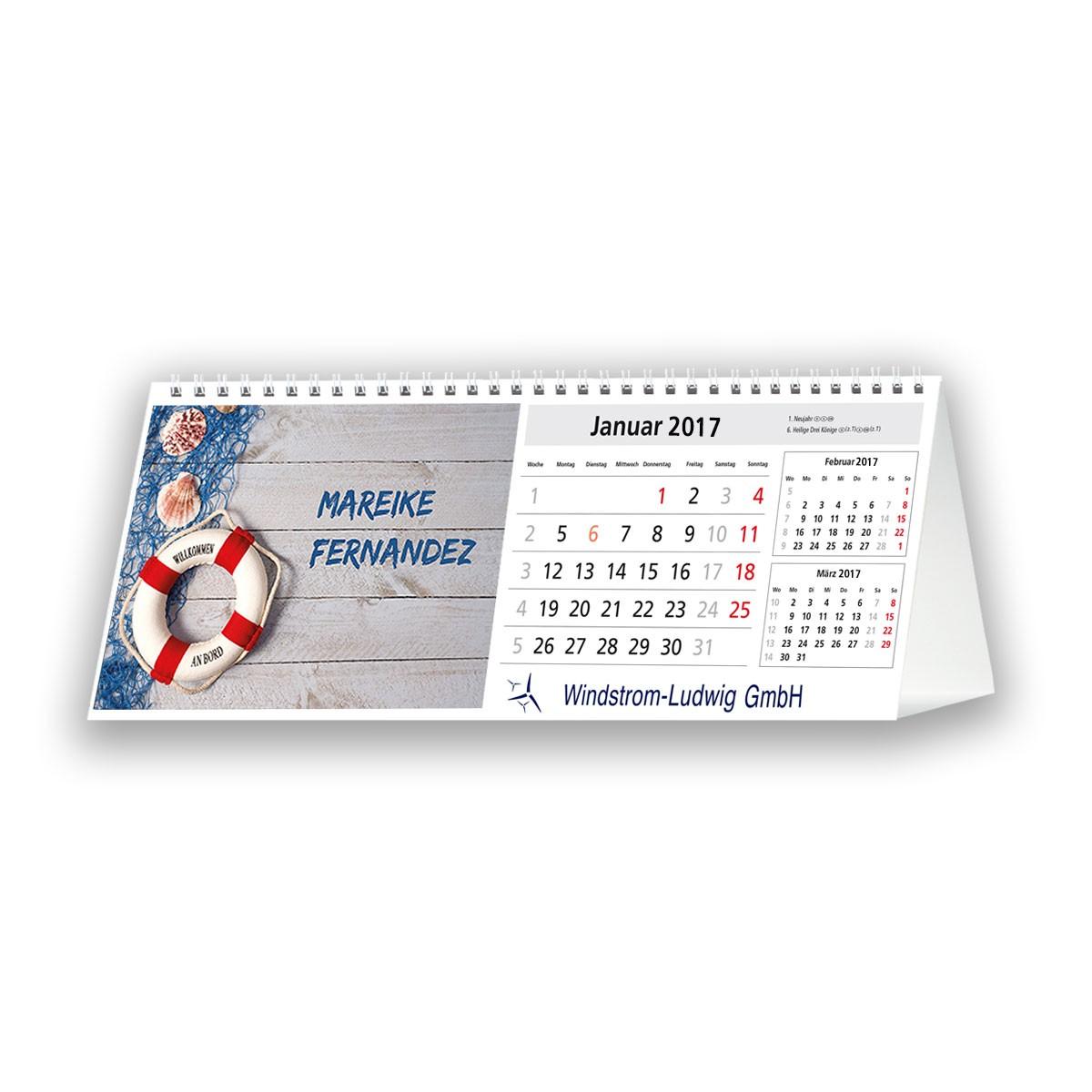 Bildkalender Modell PictureName Desk Quer