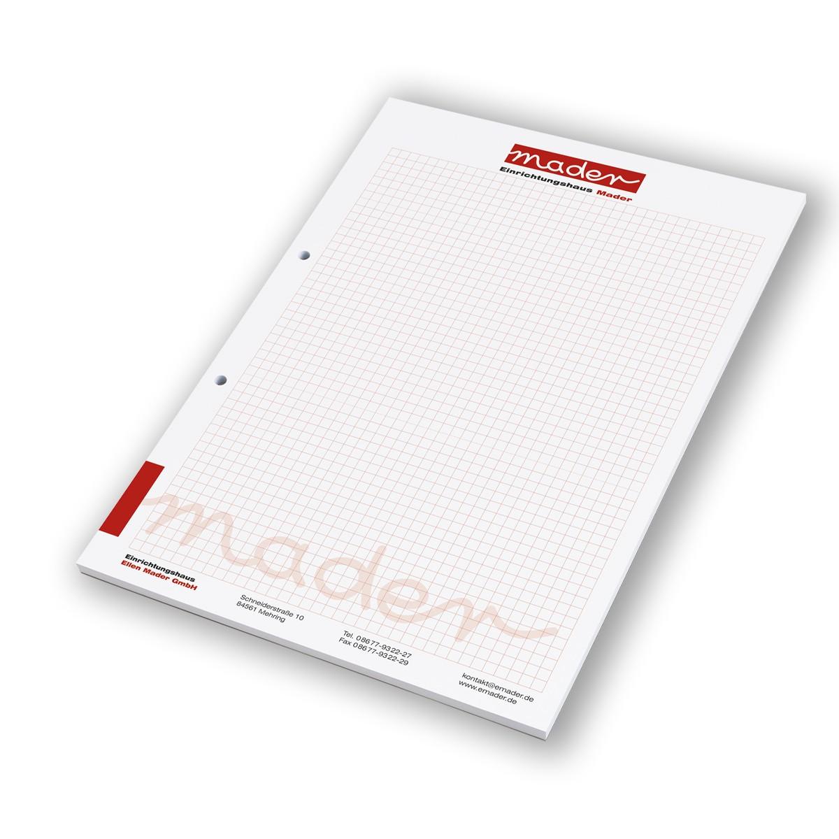 Schreibblock 50 Blatt DIN A4