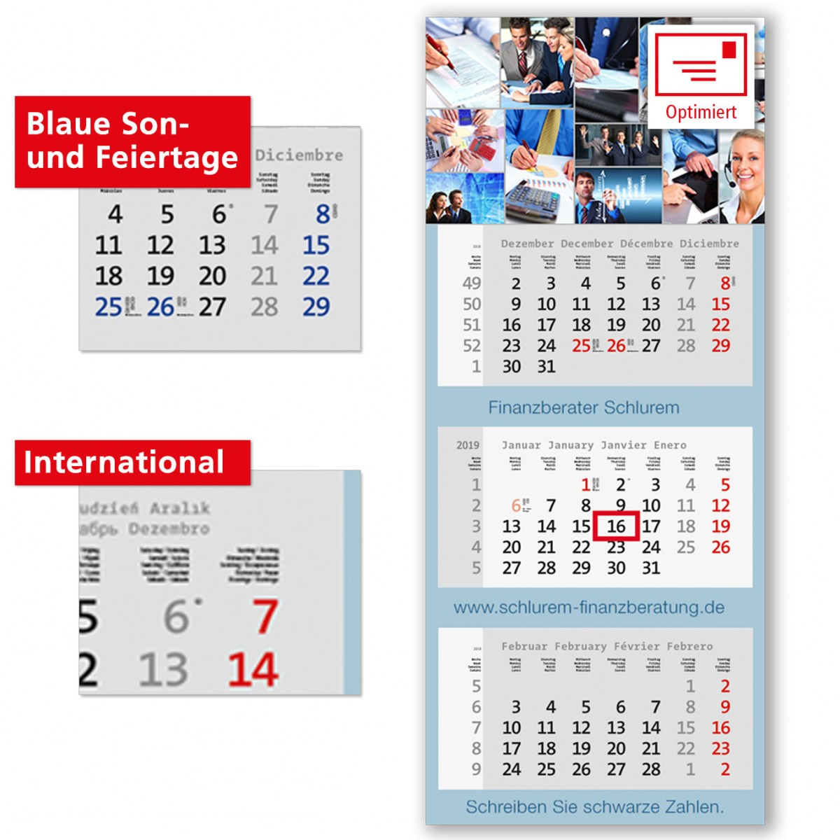 3 Monatsplaner Modell Centrum Drei