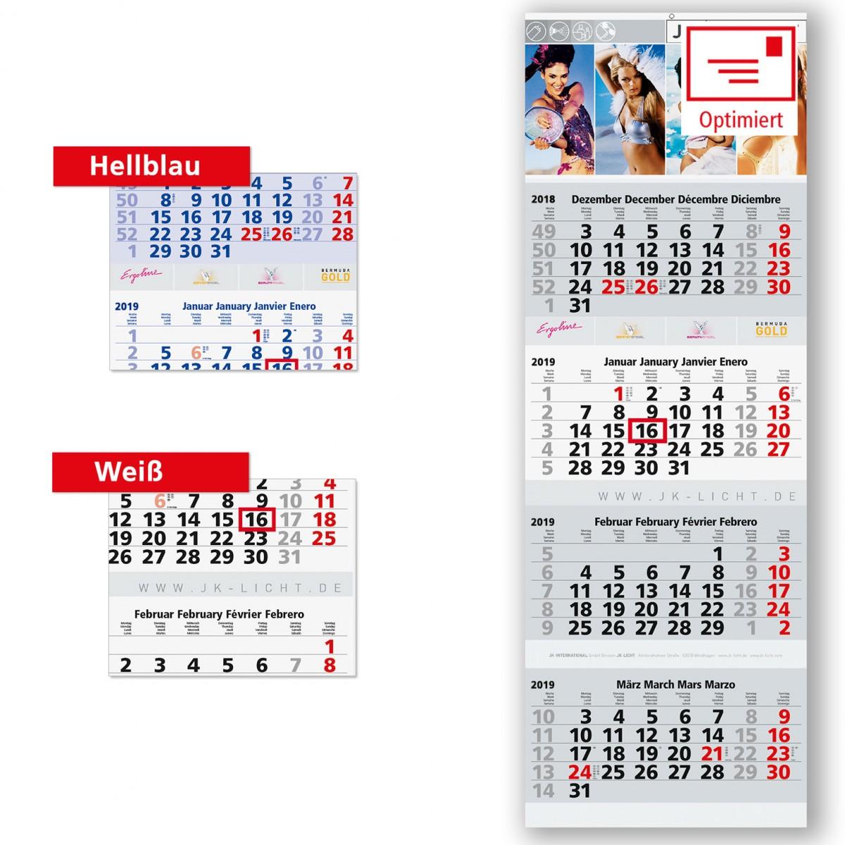 4 Monatsplaner Modell Quadro Vier Post