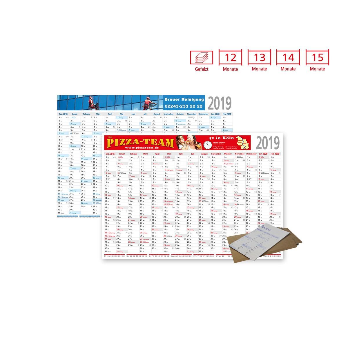 Plakatkalender Modell Eifel gefalzt