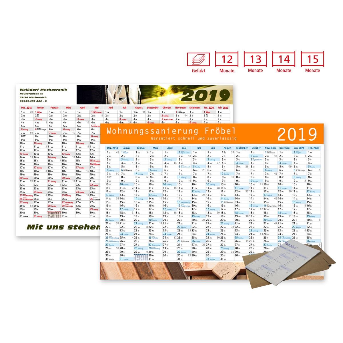 Plakatkalender Modell Alpen Plus Wide gefalzt