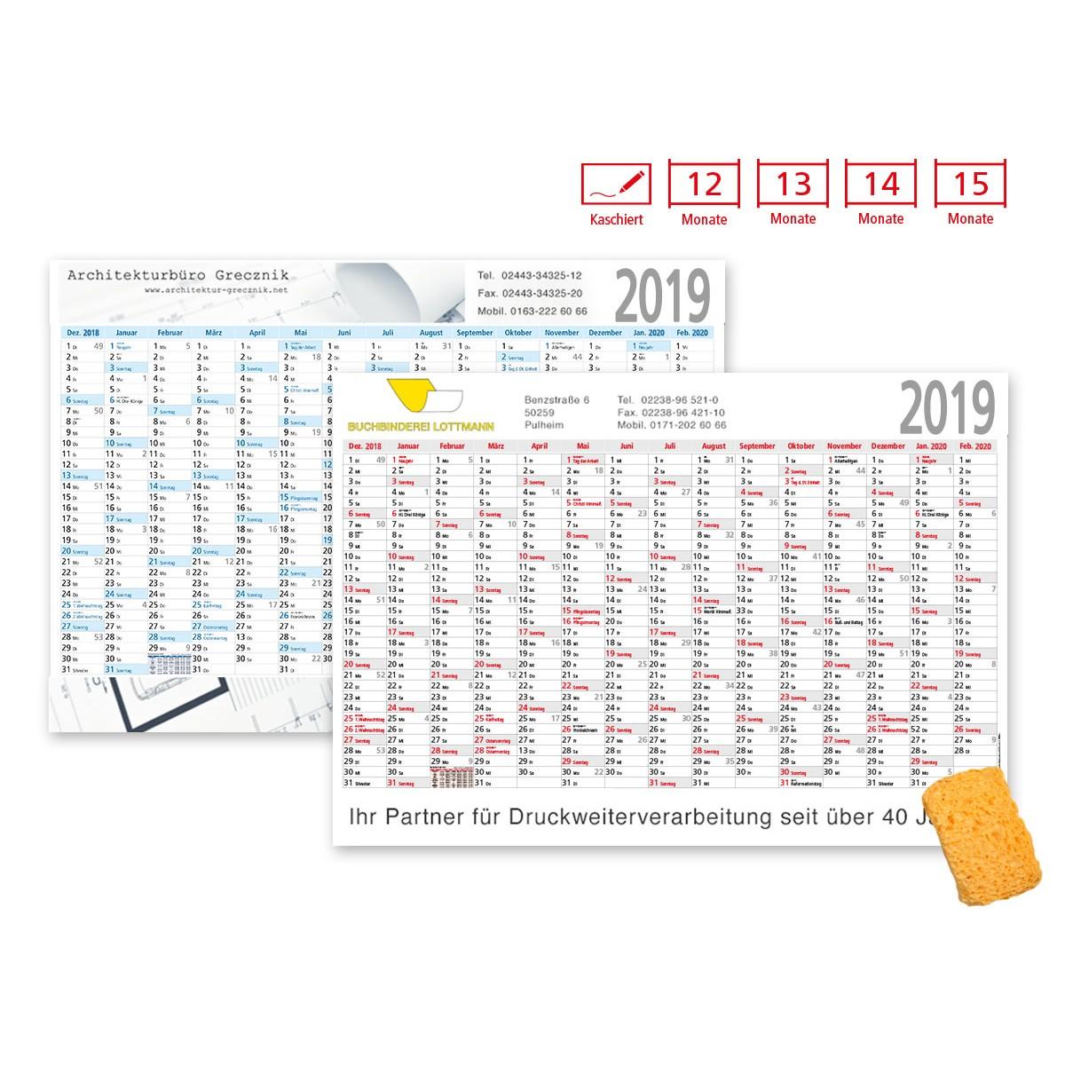 Plakatkalender Modell Alpen Plus kaschiert
