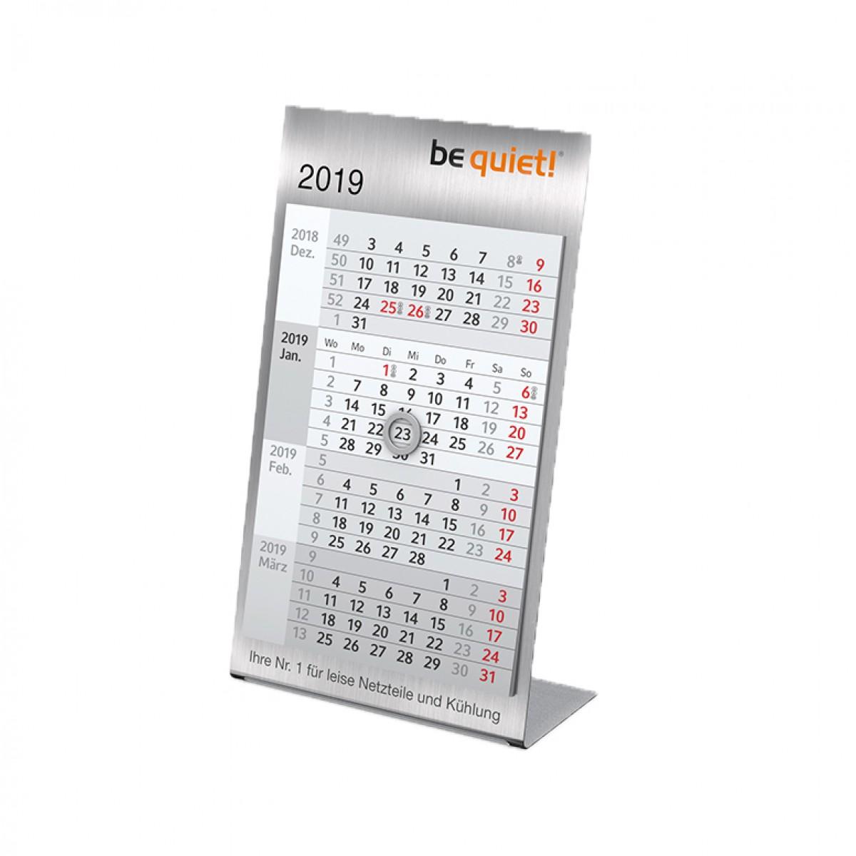 Tischkalender Modell Desktop Vier Steel