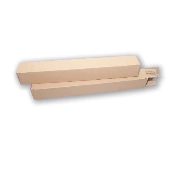 Einzelverpackung Viereckpack mit Klebeverschluss 720 x 98 x 68 mm braun