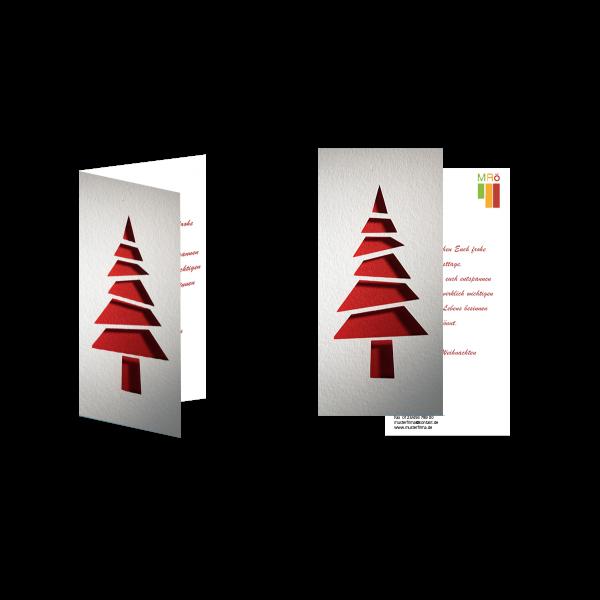 Weihnachtsgrußkarte Weihnachtsbaum Modern