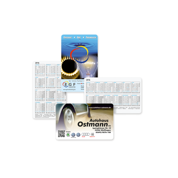 Scheckkartenkalender Polychrome
