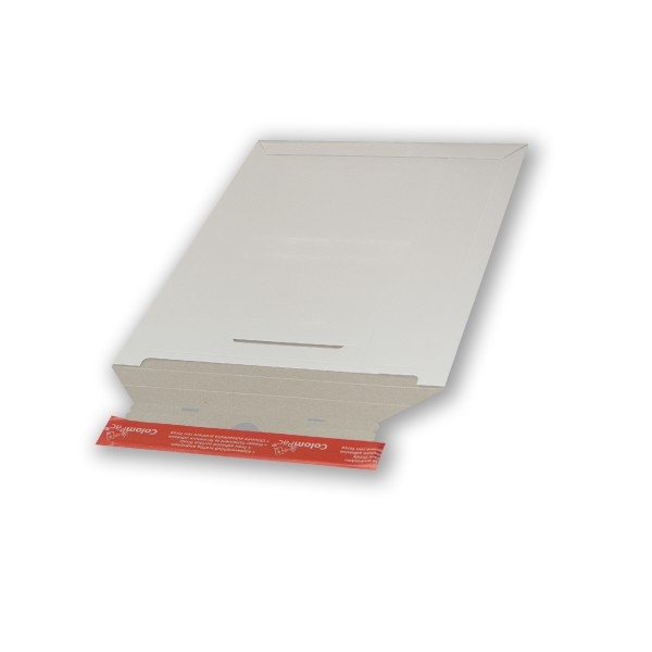 Einzelverpackung Vollpapp-Versandtasche 250 x 415 mm weiß