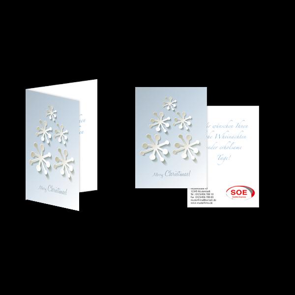 Weihnachtsgrußkarte Schneefloke Abstrakt