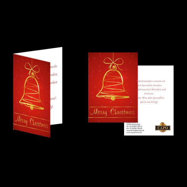 Weihnachtsgrußkarte Glocke