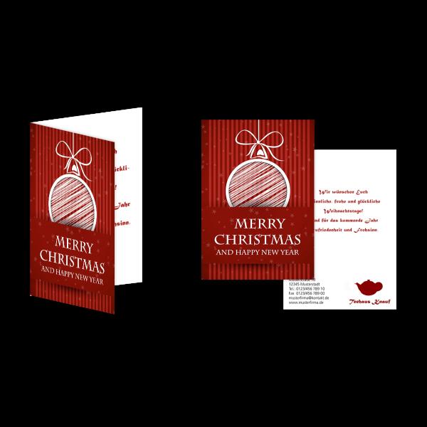 Weihnachtsgrußkarte Kugel