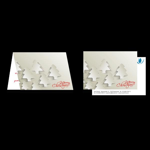 Weihnachtsgrußkarte Weiße Weihnacht