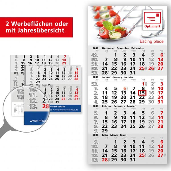 4 Monatsplaner Modell Berlin Quadro