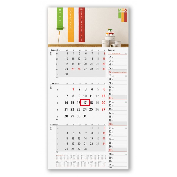 3 Monatsplaner Modell Konzept Drei A