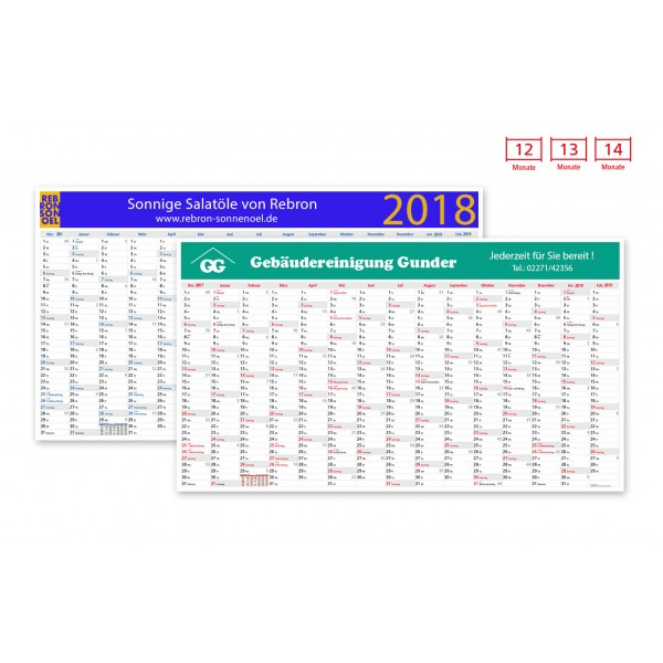 Plakatkalender Modell Everest Wide