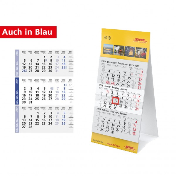 Tischkalender Modell Mini Drei