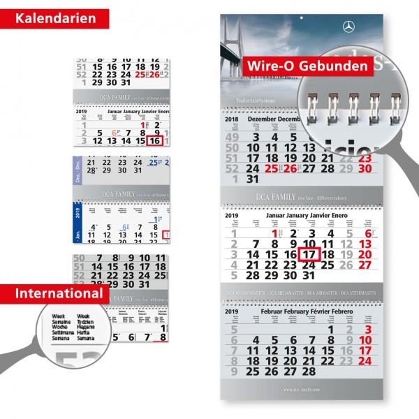 3 Monatsplaner Modell Maxi Wire-O Drei