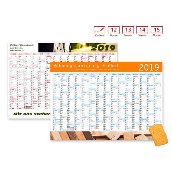 Plakatkalender Modell Alpen Plus Wide kaschiert
