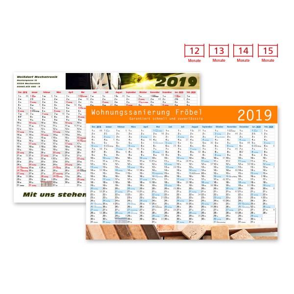 Plakatkalender Modell Alpen Plus Wide