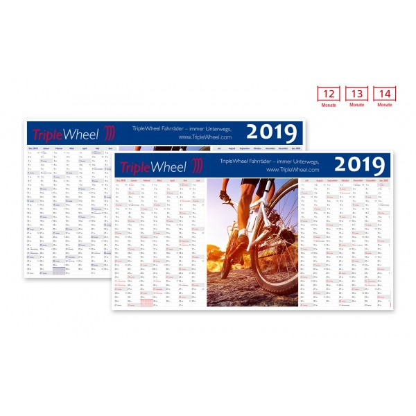 Plakatkalender Modell Everest Ad Wide